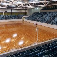 State Hackey & Netball Centre, Victoria. ASF ST 2 System - Messmate